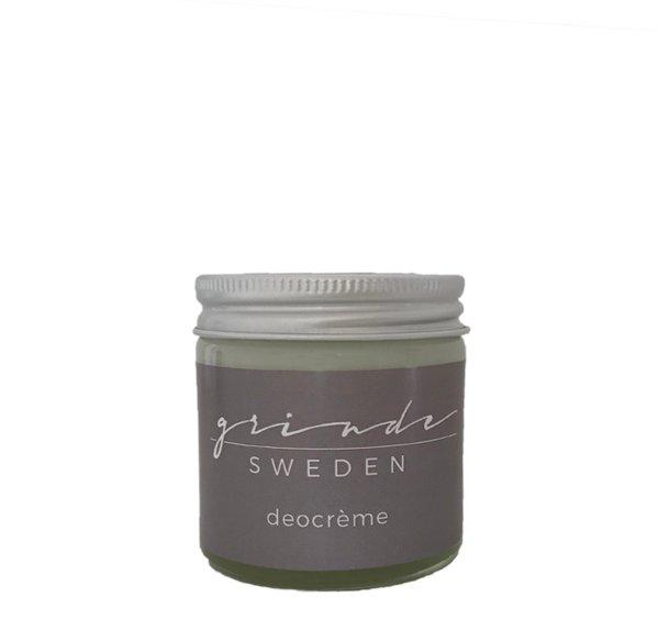Ekologisk Deo crème Grinde Sweden utan aluminiumklorid Effektiv vegan unisex
