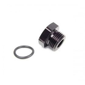 O-ring plugg - AN12 (Svart)