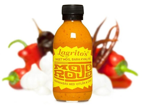 Lagrito's  Mojo Rojo en paprikasås med vitlök och chili 210ml