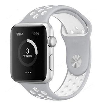 Armband sport för Apple Watch M/L Grå/Vit 42/44mm