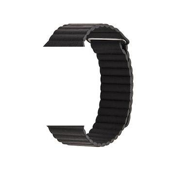 Läderband till Apple Watch38/40mm SVART