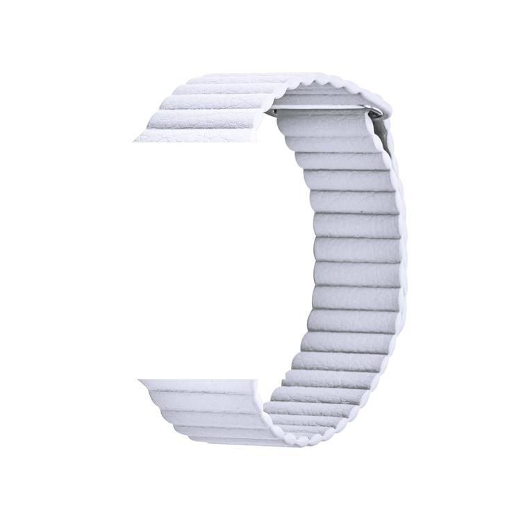Läderband till Apple Watch 42/44mm VIT