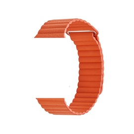 Läderband för Apple Watch 42/44mm ORANGE