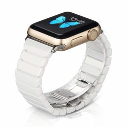 CERAMIC ARMBAND FÖR APPLE WATCH 42/44mm VIT