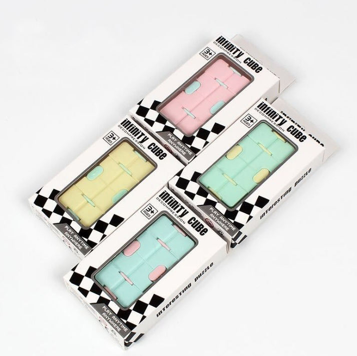 "3 -pack Fidget ""Infinity"" Cube Antistress"