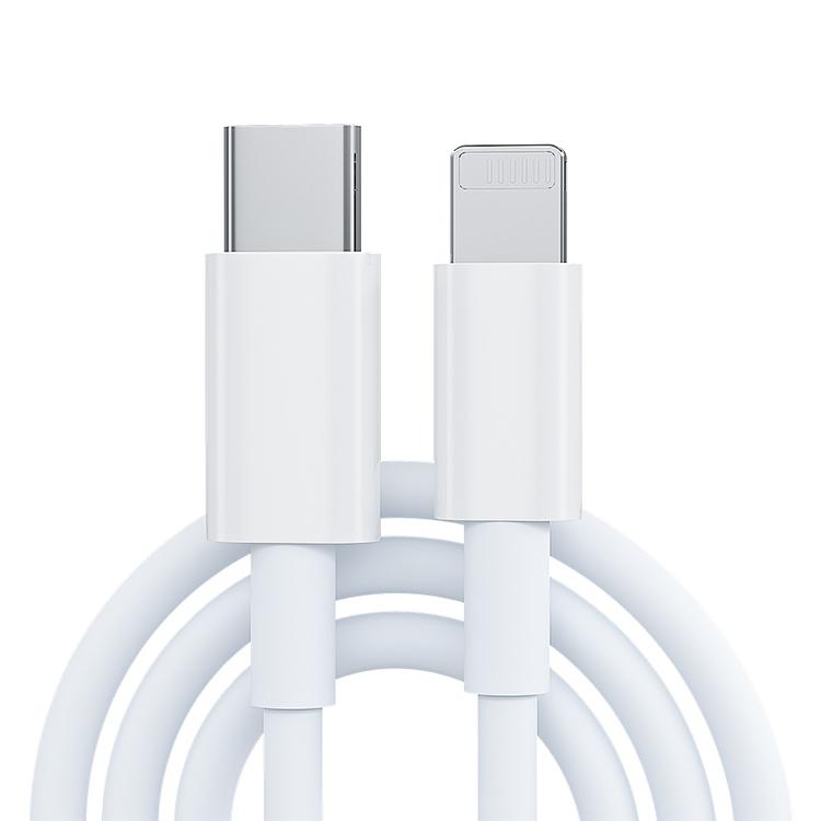 3-pack iPhone kabel för Apple 11/12 USB-C till Lightning 1M Vit