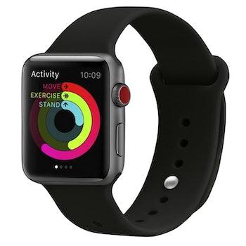 Armband sport för Apple Watch Helsvart 38/40mm