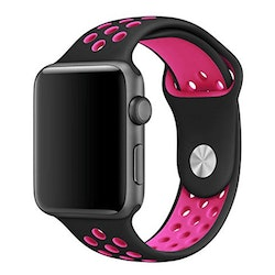 Apple Watch Armband sport Svart/Rosa 38/40mm