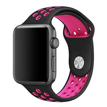 Apple Watch Armband sport Svart/Rosa 38/40mm