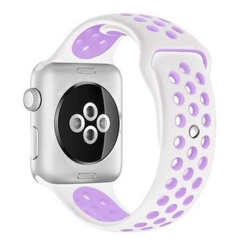Apple Watch Armband sport Vit/Lila 38/40mm