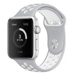 Armband sport för Apple Watch S/M Grå/Vit 42/44mm