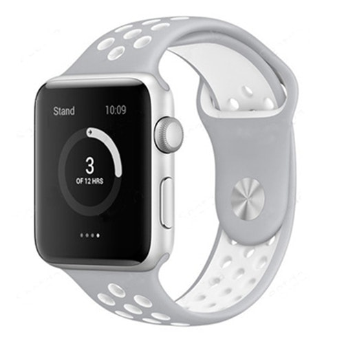 Apple Watch Armband sport Grå/Vit 42/44mm