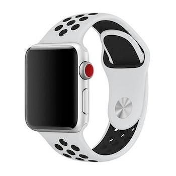 Silikonbnad för Apple Watch Vit/Svart 42/44mm  (160mm-210mm)