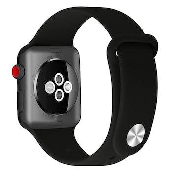 Armband sport för Apple Watch Helsvart 42/44mm
