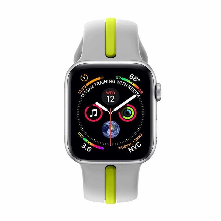 Apple Watch Armband sport Grå/Gul