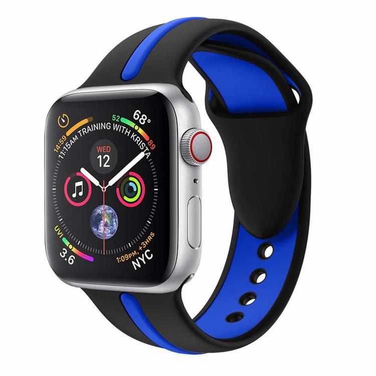 Armband sport för Apple Watch Svart/Blå