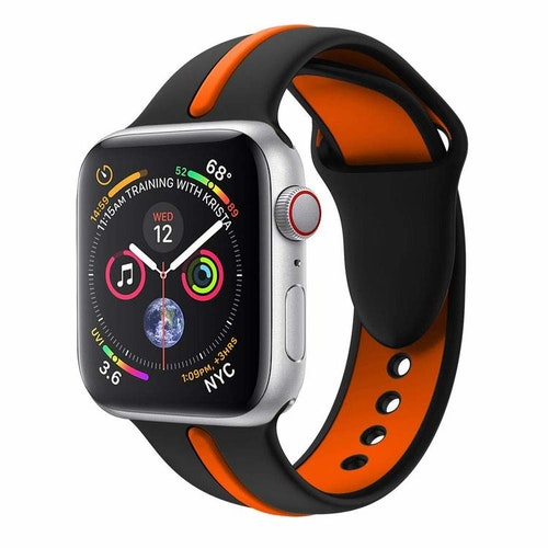 Apple Watch Armband sport Svart/Orange