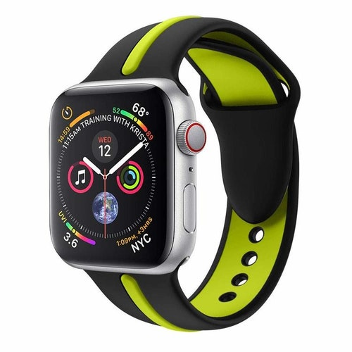 Apple Watch Armband sport Svart/Grön