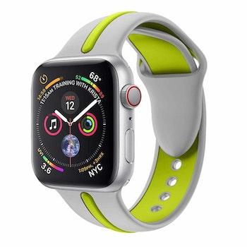 Armband sport för Apple Watch Grå/Grön