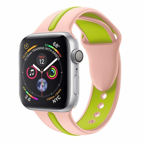 Apple Watch Armband sport Rosa/Grön