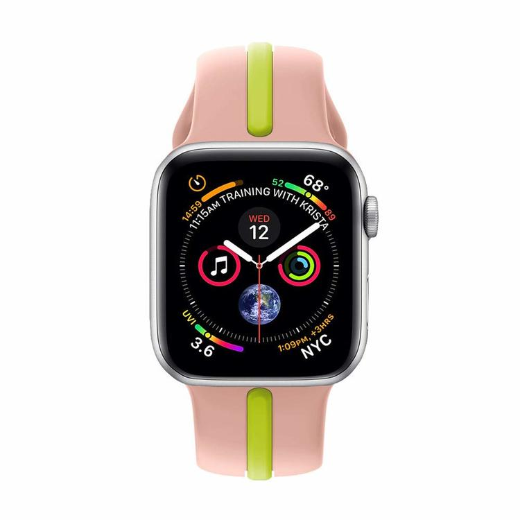 Apple Watch Armband sport Rosa/Grön