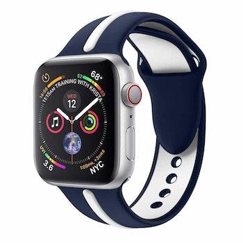 Apple Watch Armband sport Blå/Vit