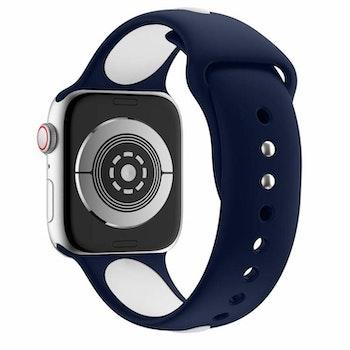 Armband sport för Apple Watch Blå/Vit