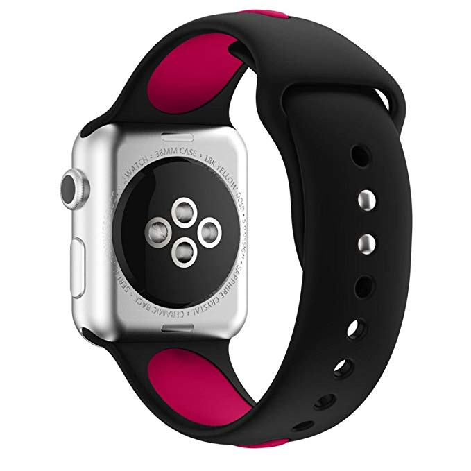 Armband sport för Apple Watch Svart/Lila