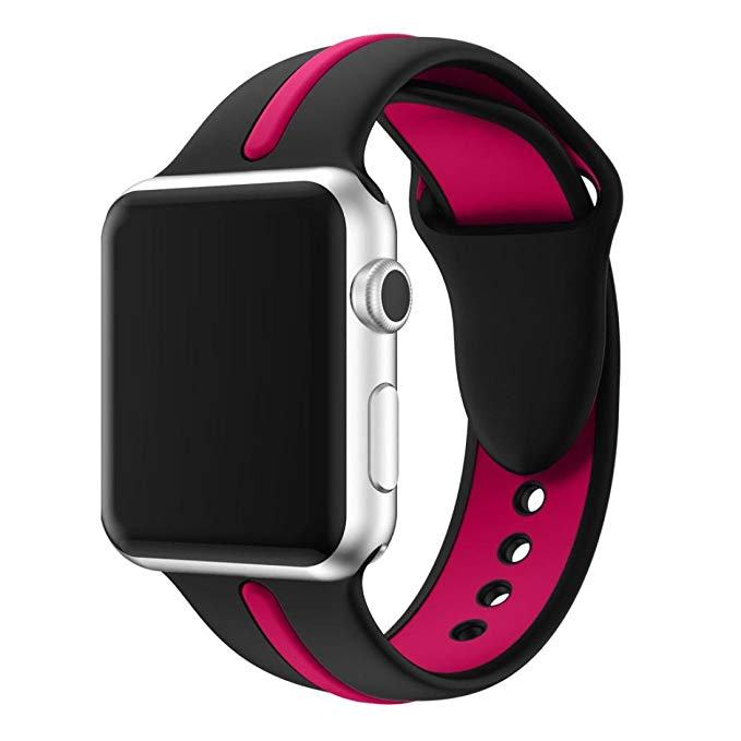 Apple Watch Armband sport Svart/Lila