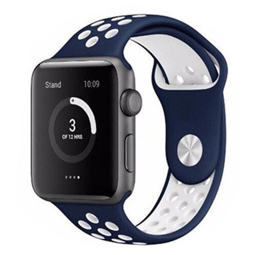 Apple Watch Silikon Blå/Vit 42/44mm