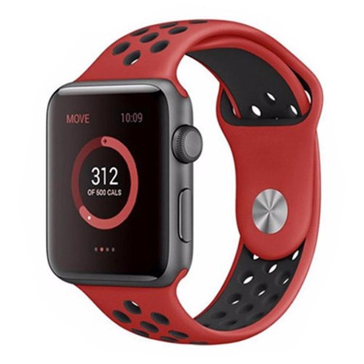 Silikonband för Apple Watch Röd/Svart 42/44mm