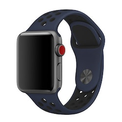 Apple Watch Silikon Marinblå/Svart 42/44mm