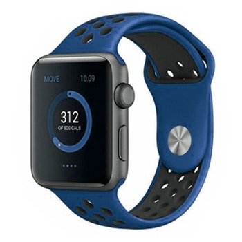 Apple Watch Silikon Blå/Svart 42/44mm