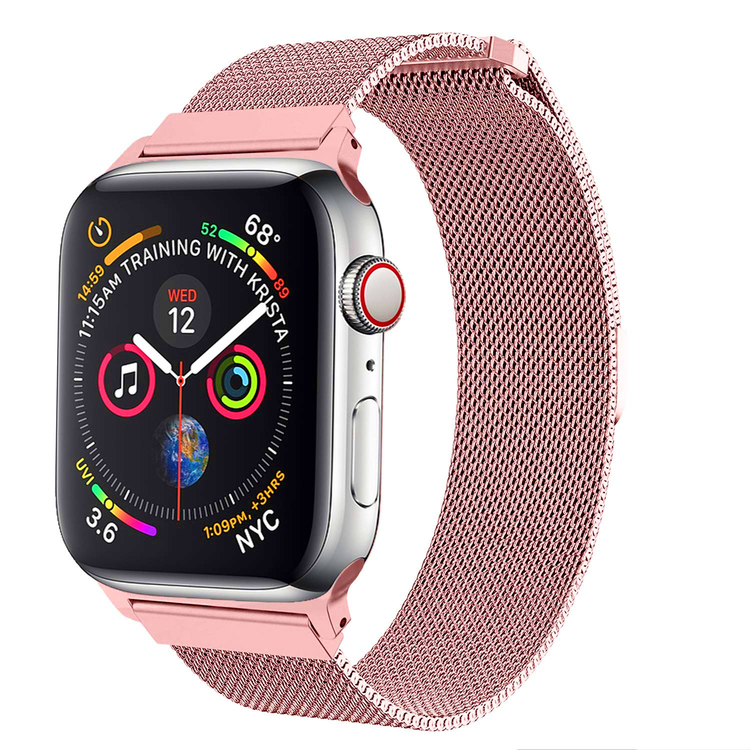 Armband till Apple Watch Milanesisk 38/40mm Rosa