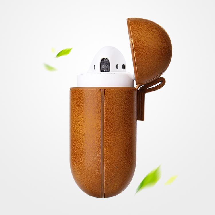AirPods PU-Läder Fodral Brunt