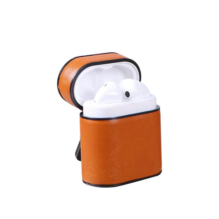 AirPods PU-Läder Fodral LjusBrunt