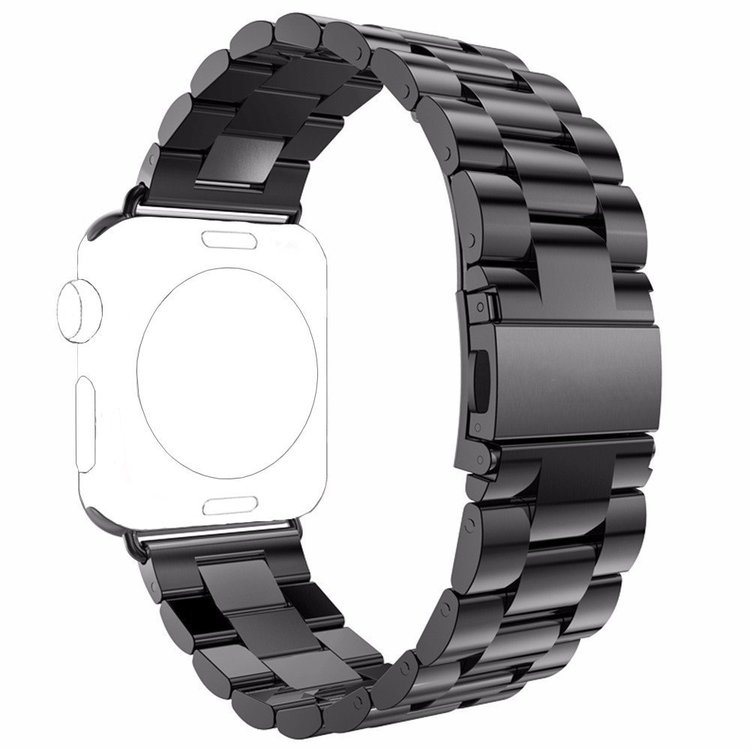 Apple Watch Borstat Metallarmband 42/44mm Svart
