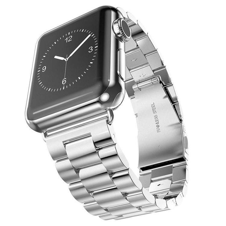 Apple Watch Borstat Metallarmband 42/44mm Silver