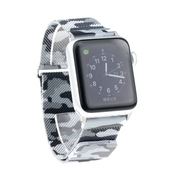 Apple Watch Armband Milanesisk 42/44mm Ljus Kamoflauge