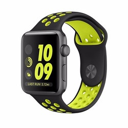 Apple Watch Armband sport Svart/Gul 42/44mm