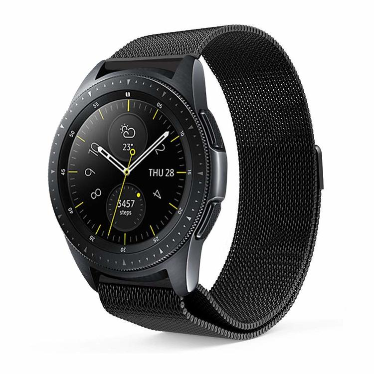 Samsung Galaxy Watch Armband Milanesisk 46mm SVART