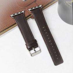 Apple Watch Äkta Läderband 42/44mm Mörkbrun RAK