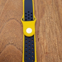 Apple Watch Silikon Gul/Blå 42/44mm
