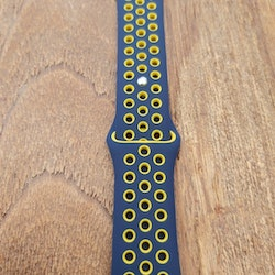 Silikonband för Apple Watch Blå/Gul 42/44mm