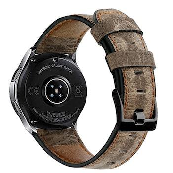 Samsung Galaxy 46mm Äkta Läder Spräcklig Ljusbrun