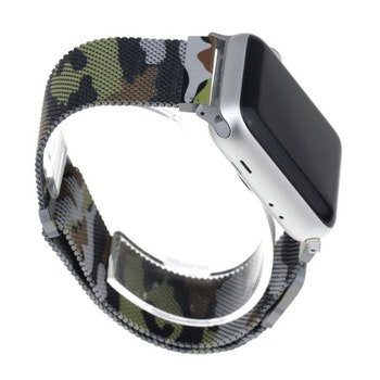 Armband till Apple Watch Milanesisk 42/44mm KAMOUFLAGE
