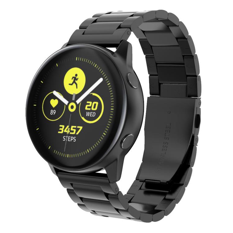 Metall-armband till Galaxy Watch Active - Svart