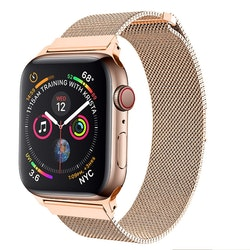 Armband till Apple Watchd Milanesisk 38/40mm ROSE/GULD