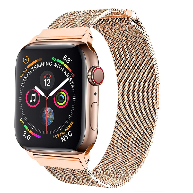 Armband till Apple Watch Milanesisk 42/44mm ROSE/GULD