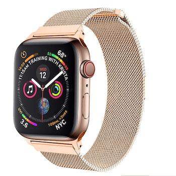 Armband till Apple Watch Milanesisk 42/44mm ROSE/GULD